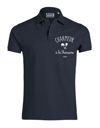 """Polo """"Charmeur à la française"""""""