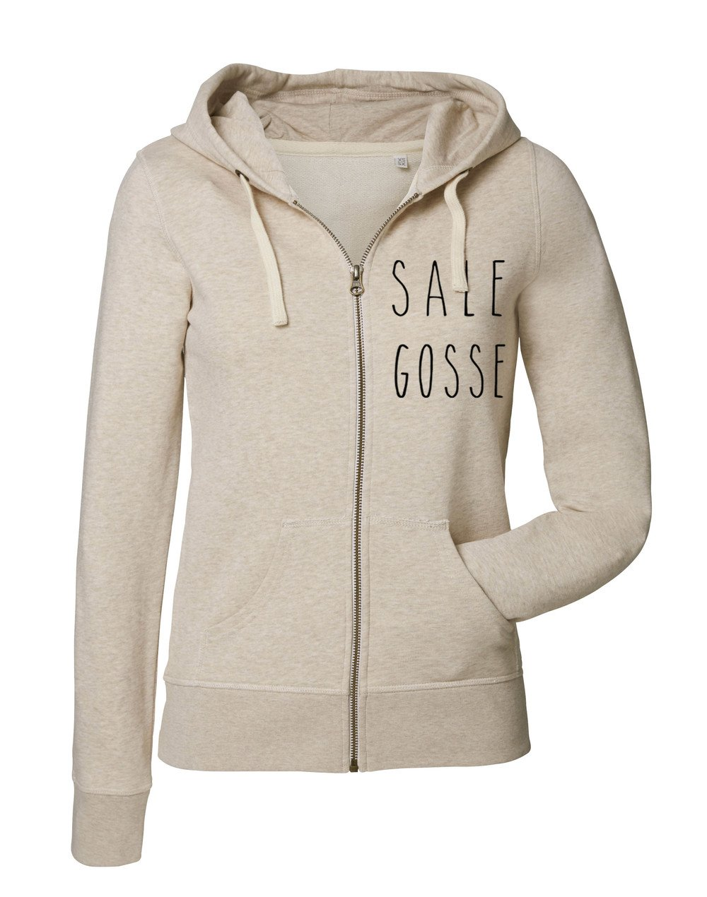 "Sweat zippé ""Sale Gosse"""