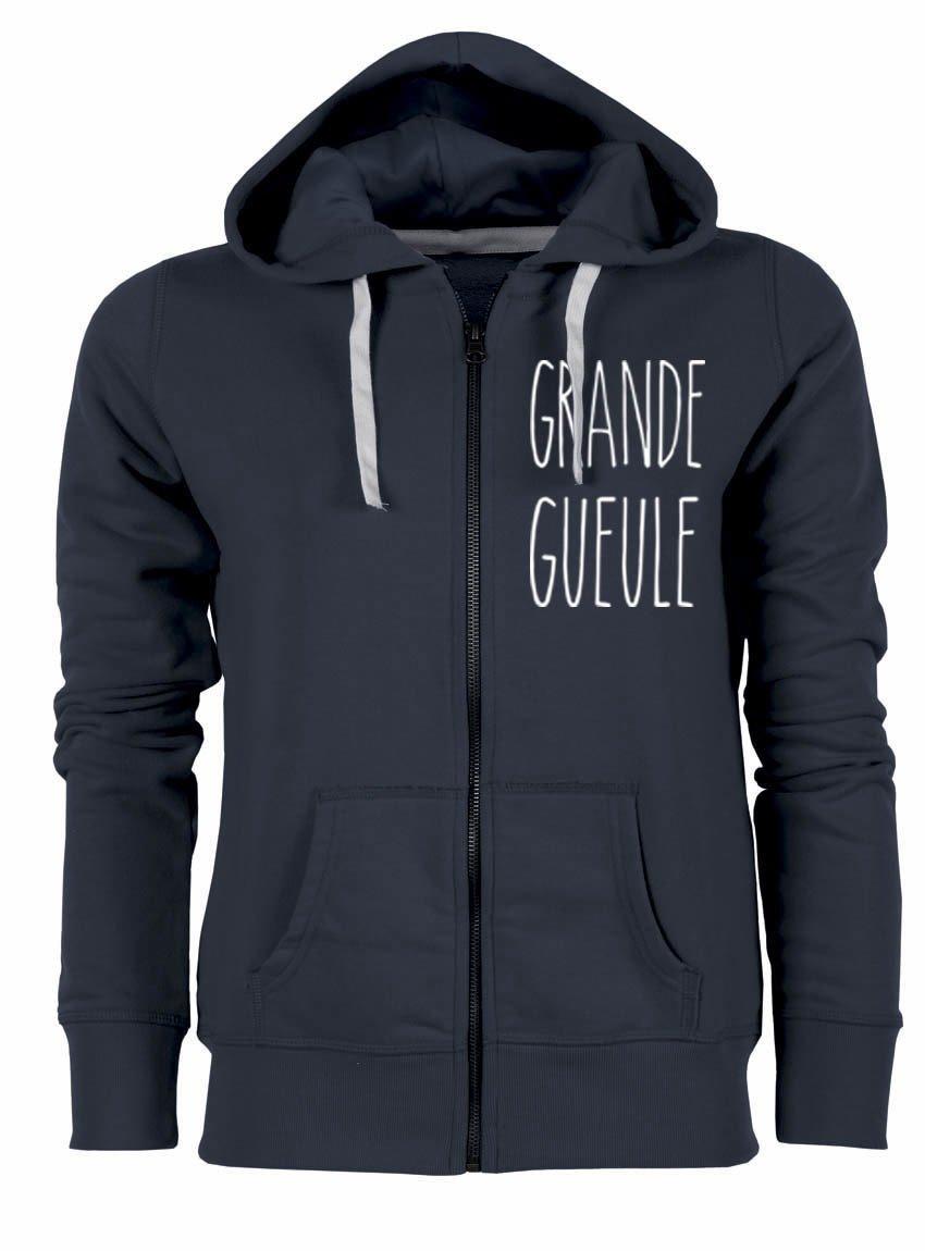 """Sweat zippé """"Grande Gueule"""""""
