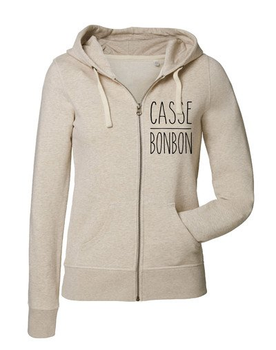 "Sweat zippé ""Casse bonbon"""