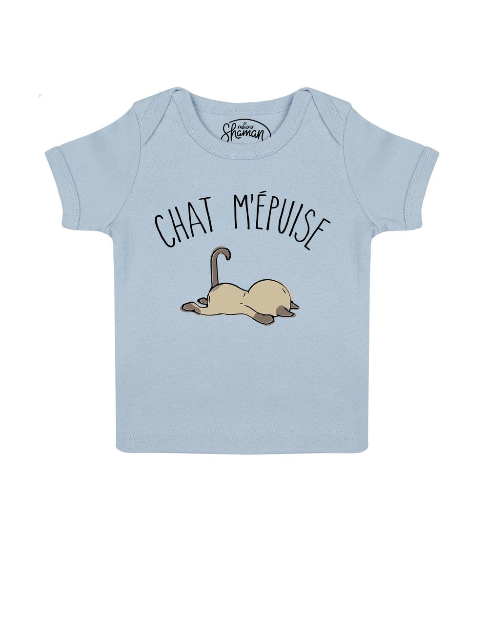 Tee shirt Chat m'épuise