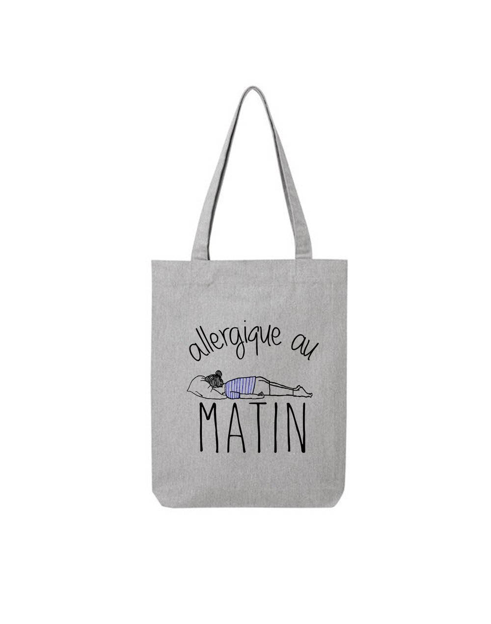 "Tote Bag ""Allergique au matin"""