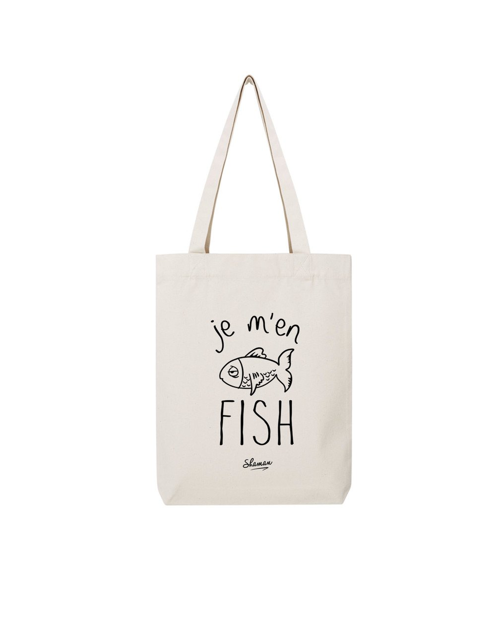 tote bag de la marque shaman fish. Black Bedroom Furniture Sets. Home Design Ideas