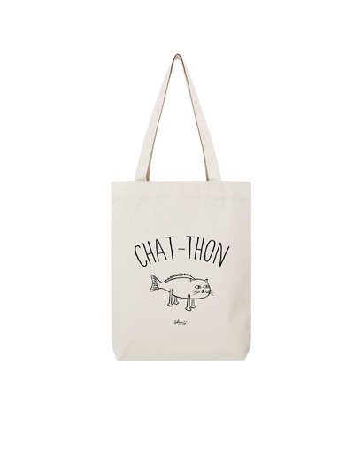 "Tote Bag ""chat thon"""