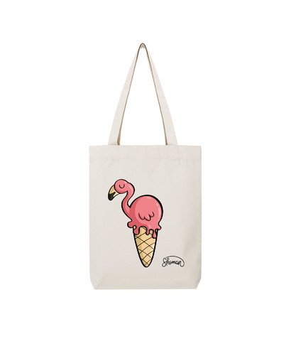 "Tote Bag ""Flamant ice"""
