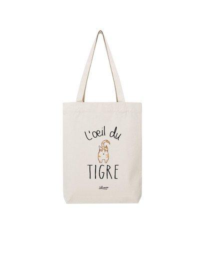 "Tote Bag ""oeil du Tigre"""