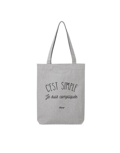 "Tote Bag ""Simple femme"""