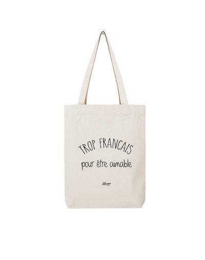 """Tote Bag """"Trop français"""""""