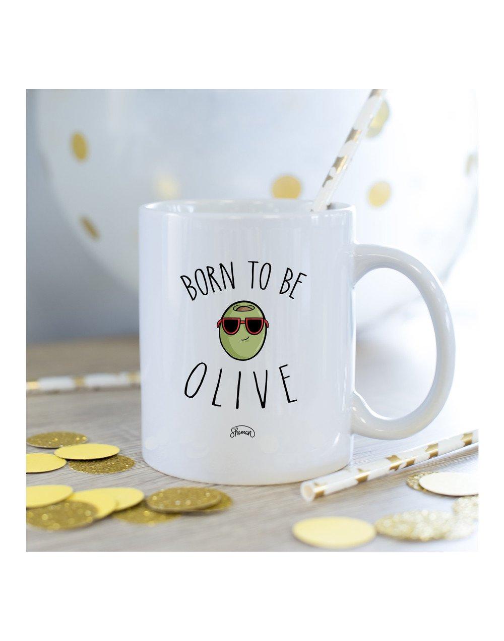 Mug Born to be olive
