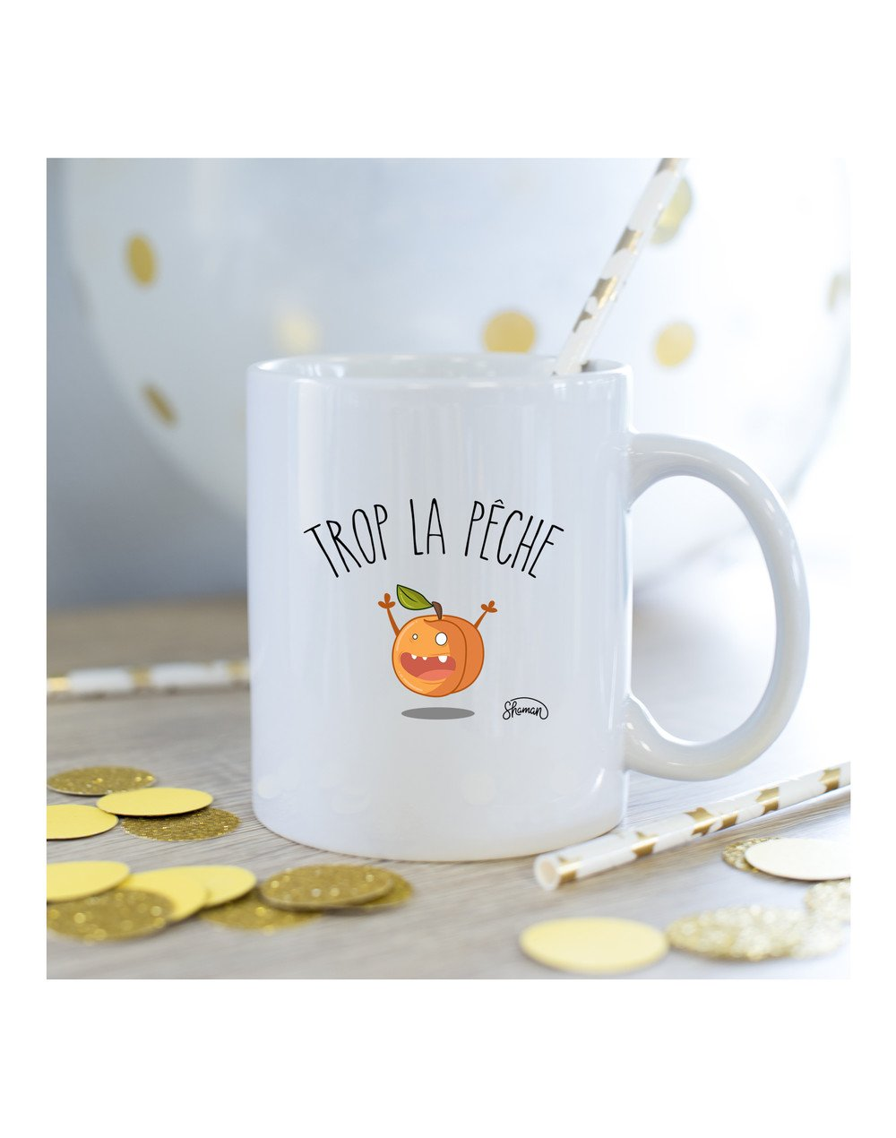 "Mug ""Trop la pêche"""