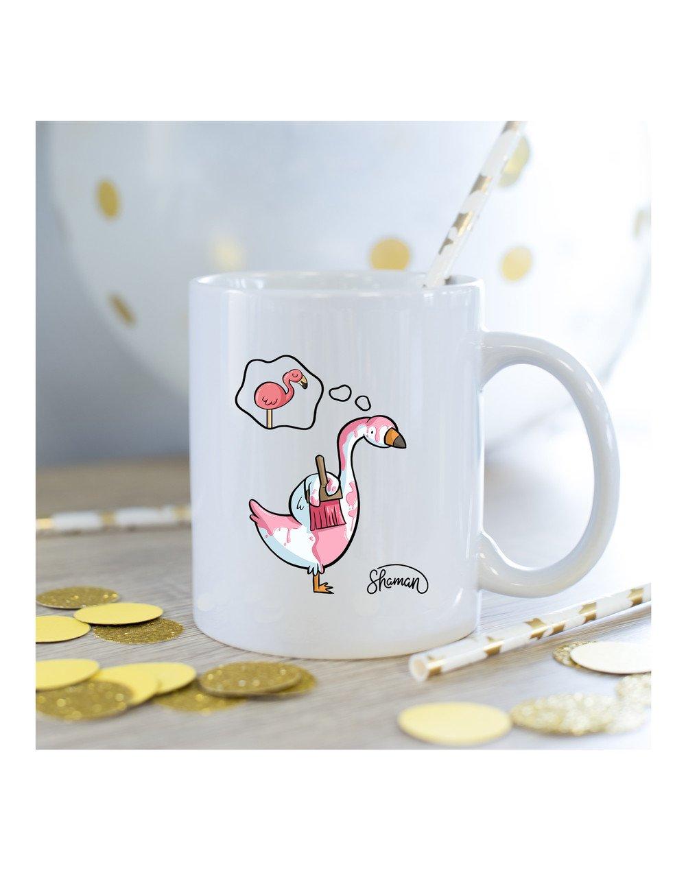 Mug Cygne rose