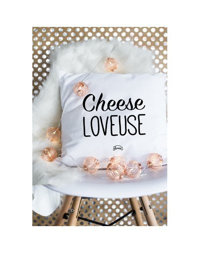 "Coussin ""Cheese loveuse"""