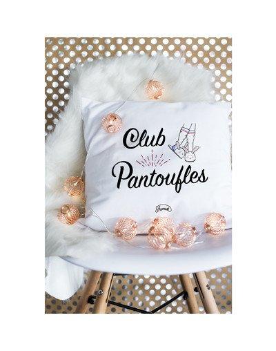 """Coussin """"Club pantoufles"""""""