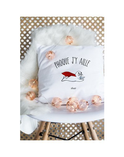 "Coussin ""Phoque j'y aille"""
