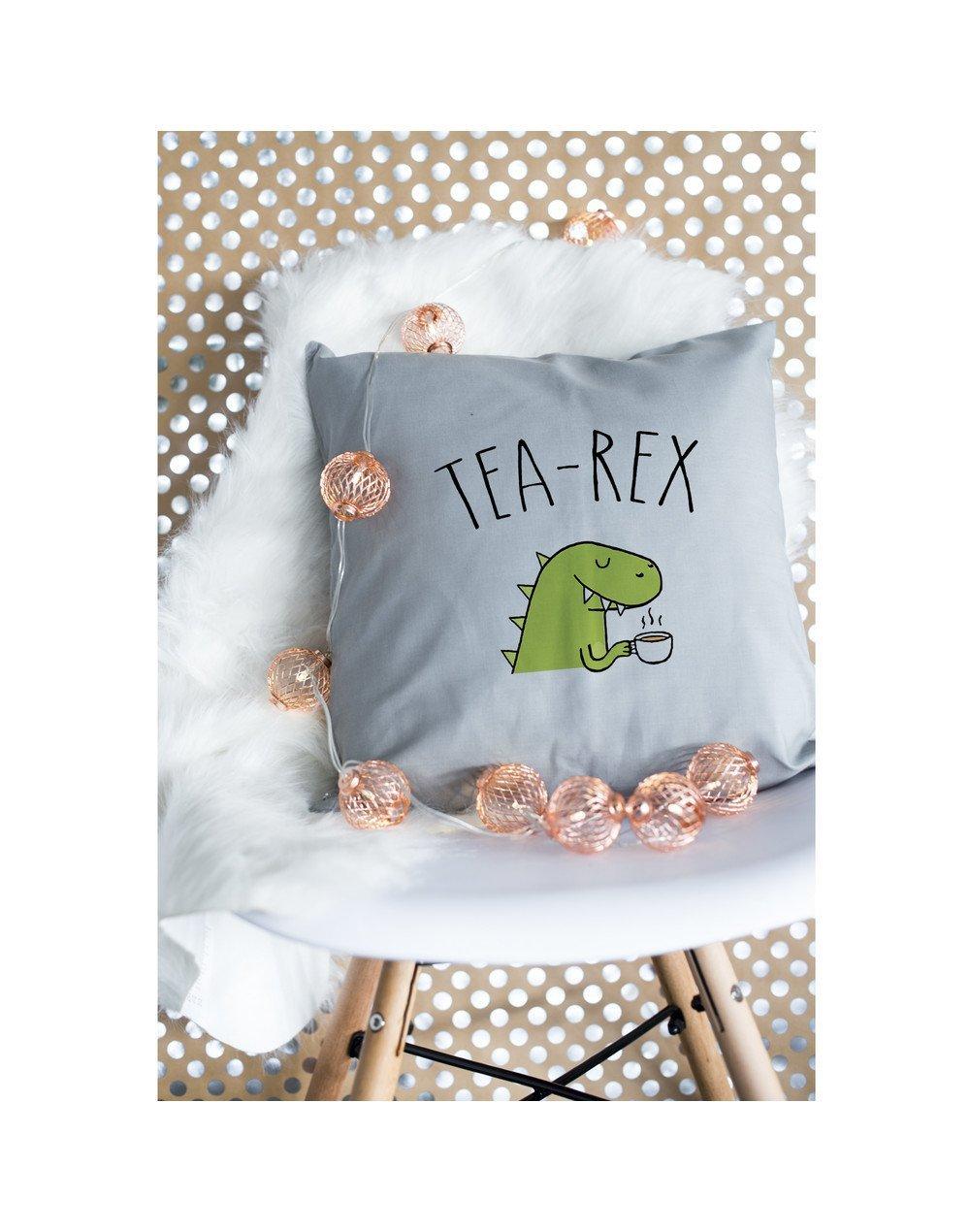 "Coussin ""Tea rex"""