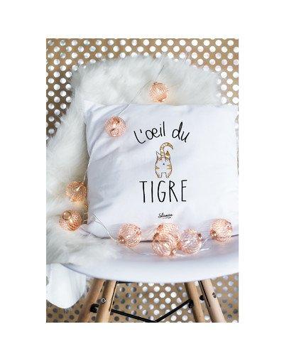 """Coussin """"l'oeil du tigre"""""""