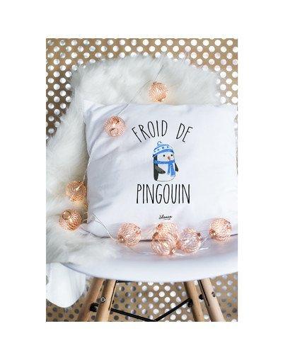 """Coussin """"Froid de pingouin"""""""