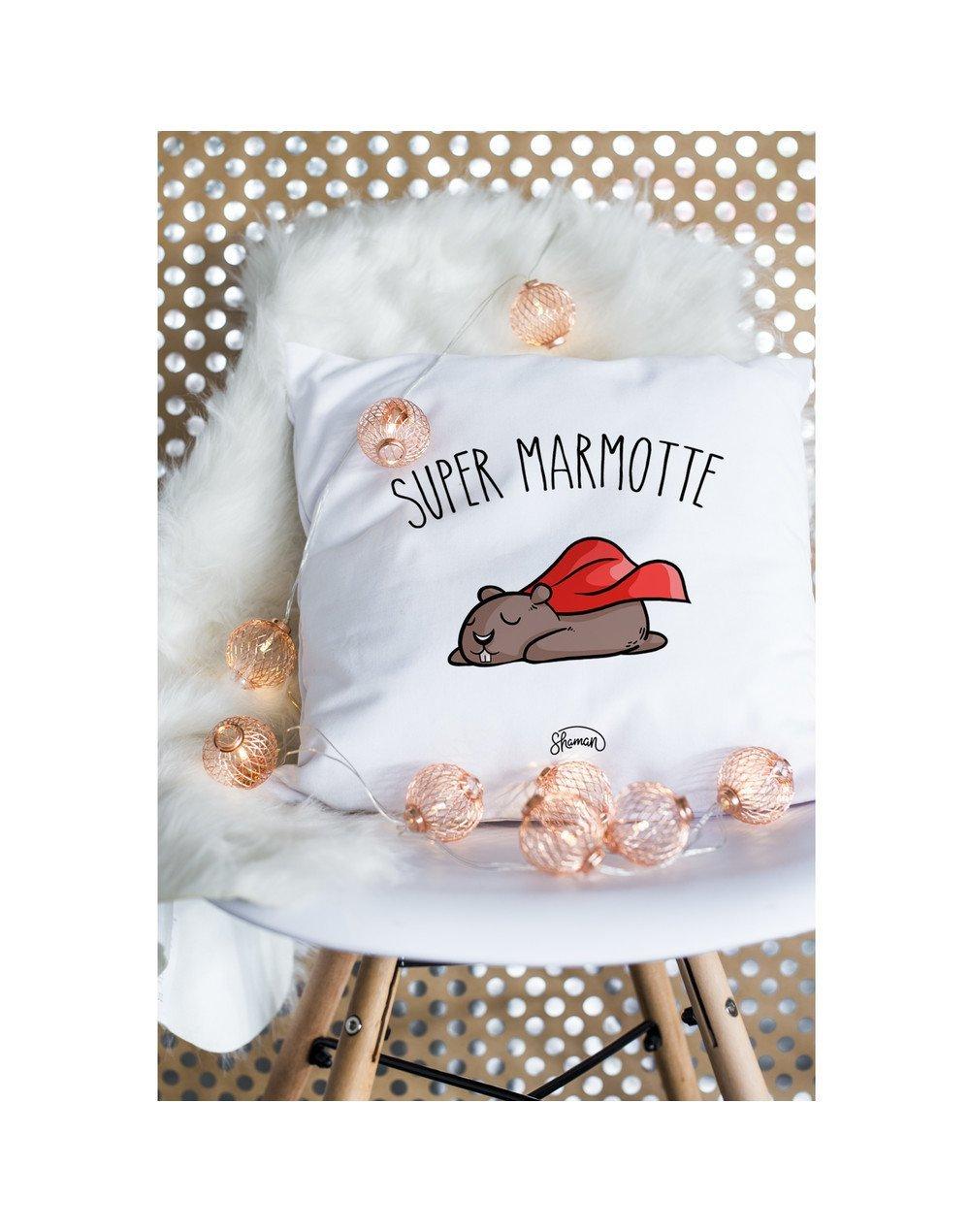 """Coussin """"Super marmotte"""""""