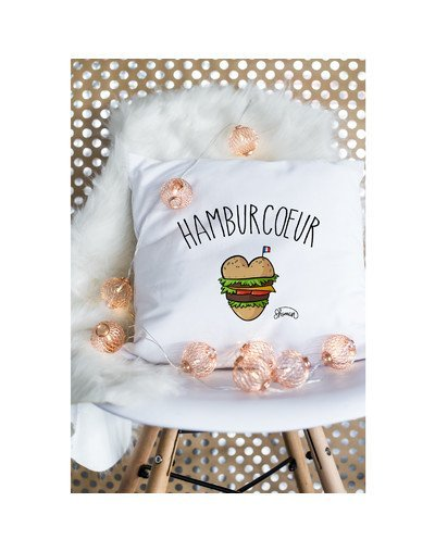 "Coussin ""Hamburcoeur"""