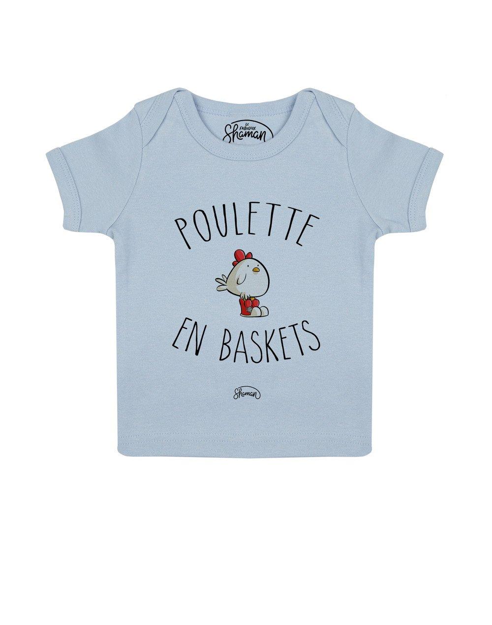 Tee shirt Poulette en baskets