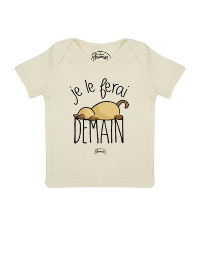 Tee shirt Je le ferai demain chat
