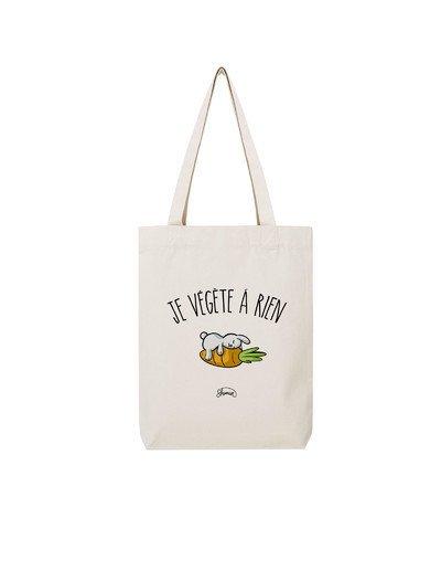 "Tote Bag ""Je végète a rien"""