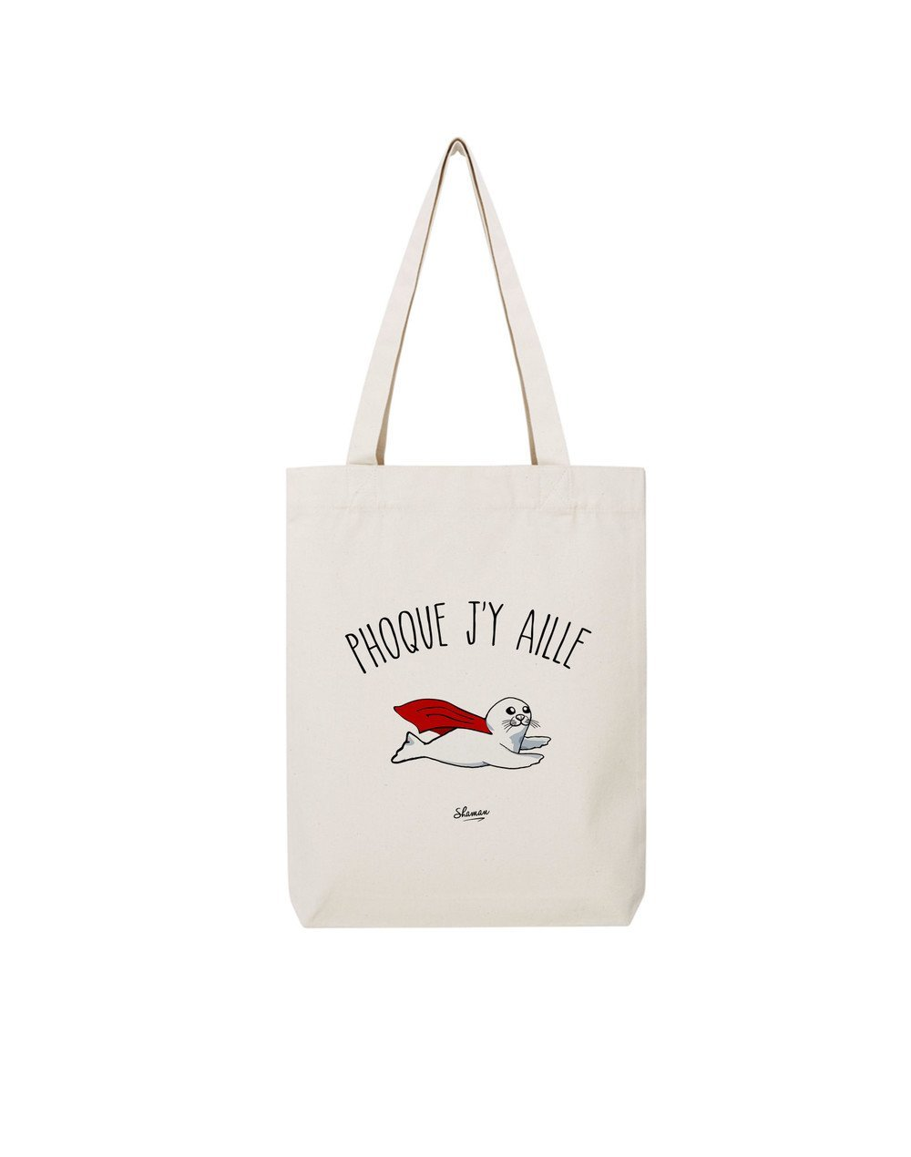 "Tote Bag ""Phoque j'y aille"""
