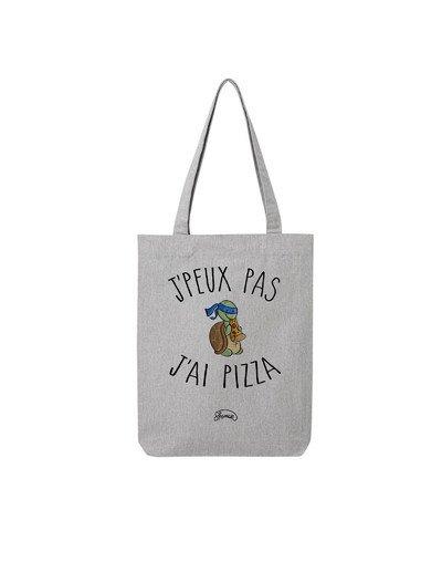 """Tote Bag """"Peux pas pizza"""""""