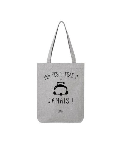 "Tote Bag ""Moi susceptible"""
