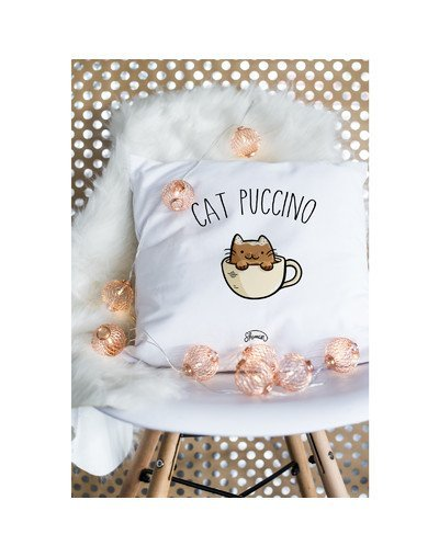 "Coussin ""Cat puccino"""