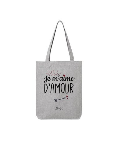 "Tote Bag ""Je m'aime d'amour"""