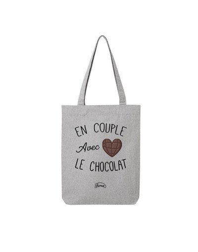 "Tote Bag ""Couple chocolat"""