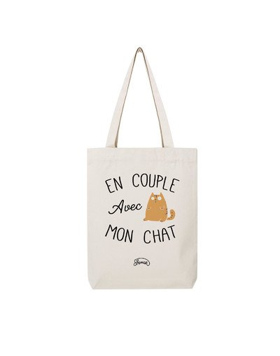 "Tote Bag ""couple chat"""