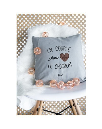 "Coussin ""Couple chocolat"""