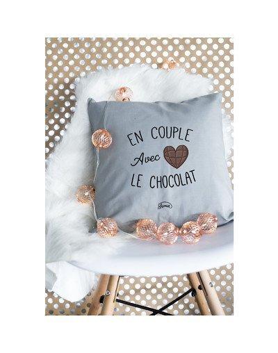 "Coussin ""Couple chocolat"""