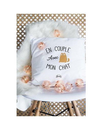 "Coussin ""Couple chat"""