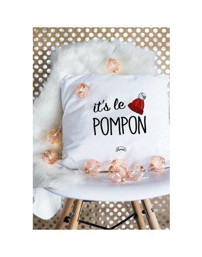 """Coussin """"It's le pompon"""""""
