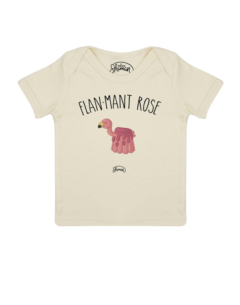 Tee shirt Flan-mant rose