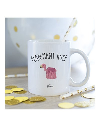 Mug Flan-mant rose