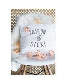 """Coussin """"Passion sport"""""""