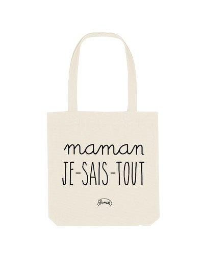 """Tote Bag """"Maman je-sais-tout"""""""