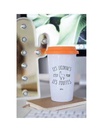 "Mugs Take Away ""Licorne pouffe"""