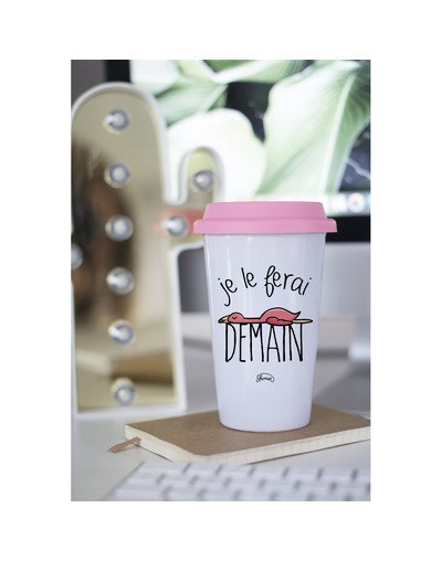 "Mugs Take Away ""Demain flamant"""