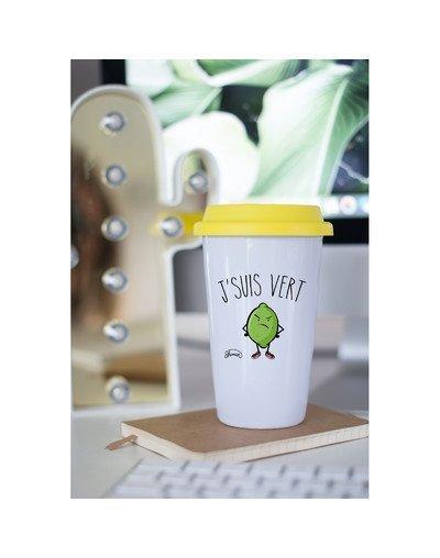 """Mugs Take Away """"J'suis vert"""""""