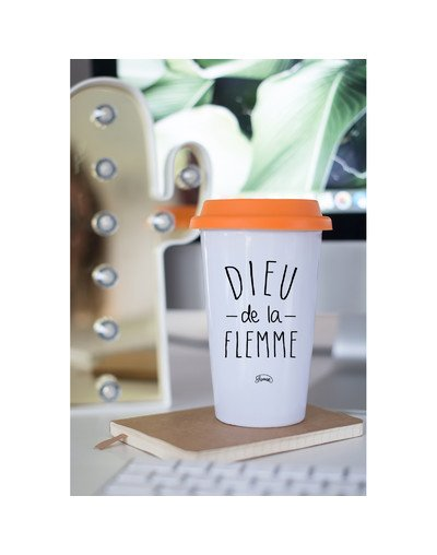 "Mugs Take Away ""Dieu flemme"""