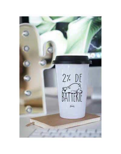 "Mugs Take Away ""Batterie 2%"""