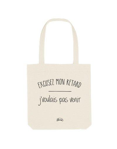 "Tote Bag ""Désolée retard"""