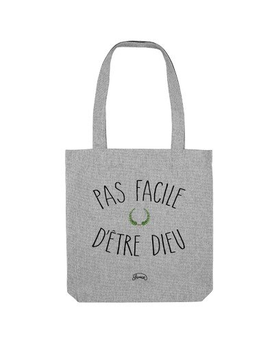 "Tote Bag ""Pas facile dieu"""