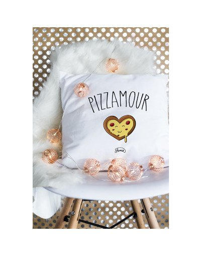 "Coussin ""Pizzamour"""