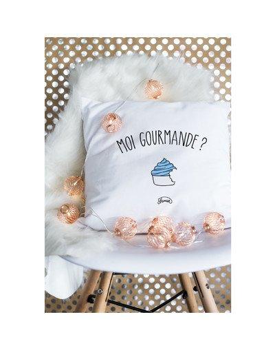 """Coussin """"Moi gourmande"""""""
